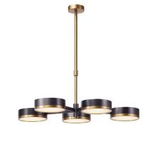 Modern Designer gold and black metal round 5-light LED Chandelier Pendant Lamp