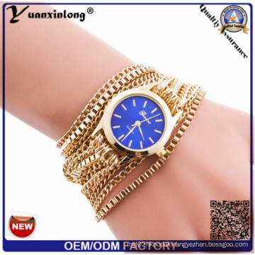 Yxl-779 2015 New Custom Watch Bracelets Fashion Wrist Watch Latest Popular Long Leather Sling Chain Quartz Fashion Watch