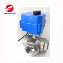 dn15 dn20 dn25 dn32 ss304 débit d'eau électrique 3 voies vanne de contrôle