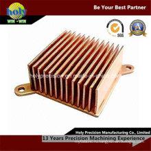 Подвергать механической обработке CNC skiving ребро медный радиатор