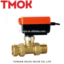 High quality Double live brass Electric stop valve