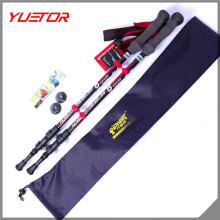 TUV/SGS Stiffer Adjustable Telescoping Custom OEM Carbon Fiber Mountain Climbing Hiking Stick