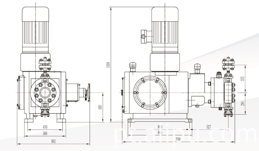 Hydraulic Diaphragm Pump outline dimension