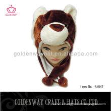 Funky brown bear winter hat
