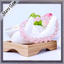 Открытый романтический розовый кварц моды браслет