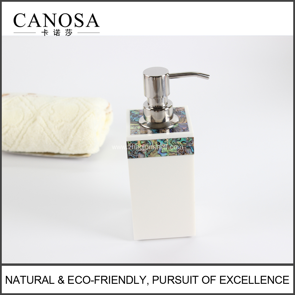 Star Hotel Hand Soap Dispenser with Paua Shell