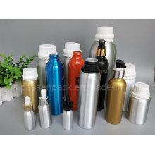 Aluminium-Olivenöl-Flasche mit weißer Plastik-Tamper-Proof-Cap (PPC-ADB-012)
