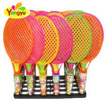 Colourful Badminton Toy With Tablet Candy In Tray Kids Candy Toy