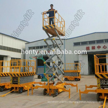 Enchufes de elevación aérea de China pequeña hidráulica / elevador de carga usado / plataforma elevadora de tijera tijeras fijas elevadoras