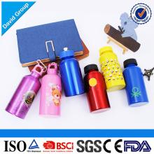 Werbeartikel Großhandel verschiedene Kapazität Aluminium Wasserflasche mit benutzerdefinierten Logo