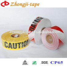 PE Construction site used barrier tape