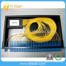 1x32 Fibra óptica divisor Painel de controlo PLC Cor preta