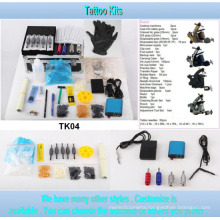 4 Gun Style Wholesale Tattoo Kit with High Quality Tk04