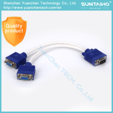 OEM Hot Selling 15pins Male to Male VGA to 2VGA Cable