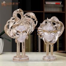 Figurinha de máscara de fadas de resina designer personalizado decoração chique em casa