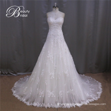 Sweetheart Lace Latest Sexy Crystal Wedding Dresses