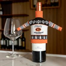 Симпатичный вязаный винный набор высокого качества