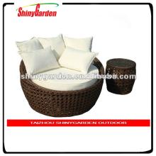 Amazon Rattan Sonnenliege, Gartenmöbel-Rattan rundes Bett, rundes Bett
