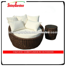 Amazon rattan sun bed, outdoor furniture-rattan round bed, round bed