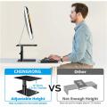 Soporte vertical para monitor de metal ergonómico de escritorio
