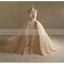 Real photo robe de mariée en argent robe de mariée en dentelle lourde