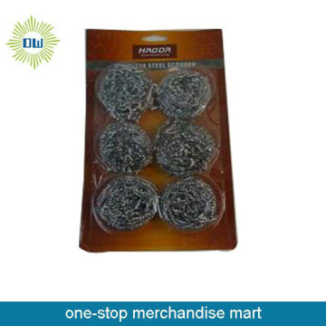 6pcs stainless steel scourer for kitchen