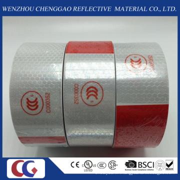 DOT-C2 miel peigne type PVC sécurité blanc et rouge bandes réfléchissantes pour camion
