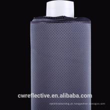 Tela reflexiva do spandex do cinza de prata com furos respiráveis para o roupa de banho