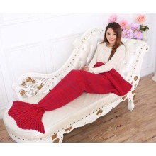 Anpassad Stickad Hand Virka Blanket Mermaid Tail