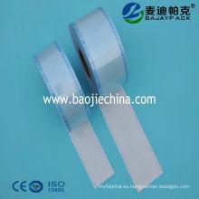 Enrollador plano de esterilización con sellado térmico disponible para hisopos de algodón