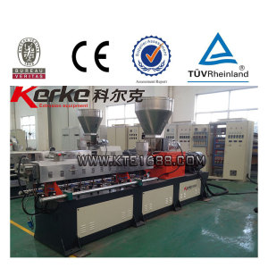 plastic recycling twin screw pelletizing extruder CE ISO