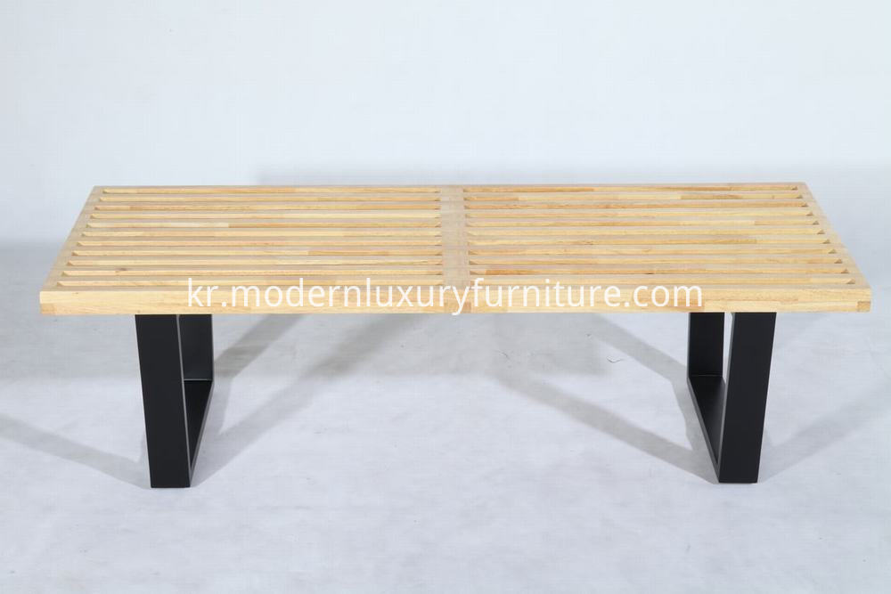 rubber wood Nelson bench
