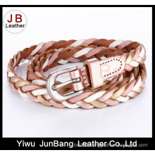 Fashion Ladie′s PU Leather Braid Belt