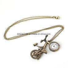 Moda colar de pingente de relógio para mulher senhora