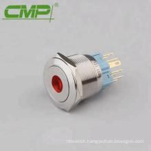 25mm Dot DPDT LED Light Push Button Switch