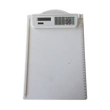 8 Dígitos Dual Power Clipboard Folder Calculadora con regla