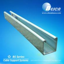 Canal en acier de section de HDG C (UL, cUL, NEMA, CEI, CE, OIN)