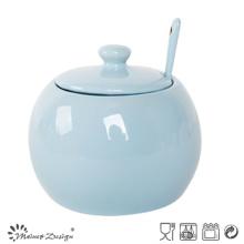 Couleur simple de glaçage Simple pot à sucre avec cuillère