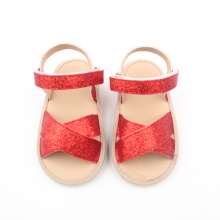 Red Kids Glitter Shoes Buty gumowe Kids Sandal