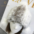 Populärer weißer Pelzhut der Damen 2018 mit den Ohren