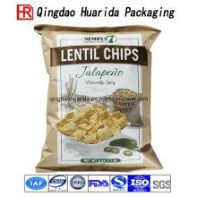 Emballage de sacs en plastique de nourriture de casse-croûte de morceaux transparents gentils
