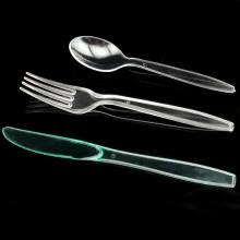 Plastic Einweg Löffel Messer und Gabel Einheit 19cm Besteck Sets