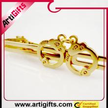 Изготовленный на заказ Логос металла вырубной логотип зажим для галстука зажим