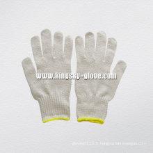 Gant de travail tricoté en coton couleur naturelle 7g-2402