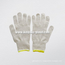7g String Knit Natural Color Cotton Work Glove-2402