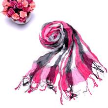 2014 Diseña bufandas largas multicolores de la tela escocesa de la arruga