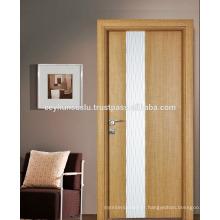 Saw Blade Structured Laminate Nouvelle porte d'intérieur design avec panneau ondulé décoratif blanc laqué