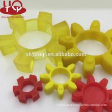 China Fábrica De Borracha PU plum blossom pad acoplamento almofada de borracha Plum mat Hytrel Gasket