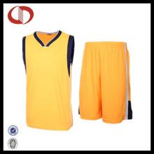 100% Baumwolle Qualitäts-kundenspezifische Basketball-Uniformen für Frau