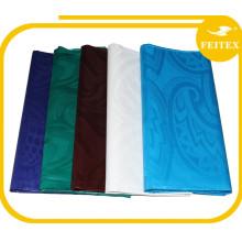 Africain guinée brocade de noce tissu rideau coton tissu matériel damassé bazin riche Feitex